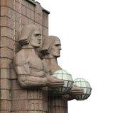 Statuy przy stacją kolejową w Helsinki. Obrazy Royalty Free