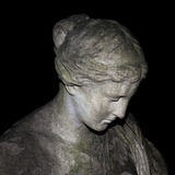 statuy smutna kobieta Obrazy Royalty Free