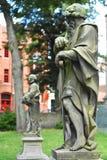 Statuy stać na czele Brugge katedrę Obraz Stock