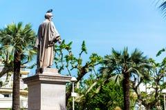 Statuy władyki Brougham w Cannes fotografia stock