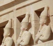 STATUY W EGIPSKIEJ świątyni Zdjęcie Stock
