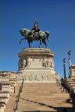 Statuy w zabytku zwycięzca Emmanuel II muzealny comple Obraz Royalty Free