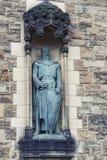 Statuy William Wallace Aleksander Carrick przy Gatehouse Edynburg kasztel, Szkocja, UK obrazy stock