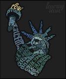 Statuy Wolności literowania plakat Fotografia Royalty Free
