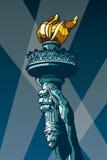 Statuy Wolności pochodnia. Fotografia Royalty Free