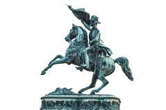 Staty av ärkehertigen Charles av Österrike på den Hofburg slotten i V Arkivbild