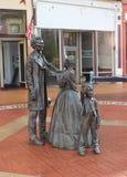 Staty av Abe Lincoln, Mary Todd Lincoln och sonen, Springfield, IL Royaltyfria Bilder