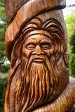 Staty av aborginalmannen Arkivfoton