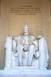 Staty av Abraham Lincoln Arkivfoto