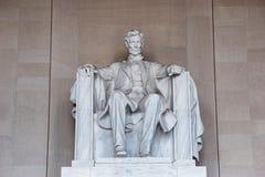 Staty av Abraham Lincoln, Lincoln Memorial Arkivbilder