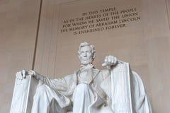 Staty av Abraham Lincoln, Lincoln Memorial Royaltyfria Foton