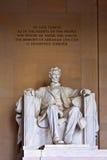 Staty av Abraham Lincoln på Lincoln Memorial Arkivfoton