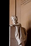 Staty av Abraham Lincoln på Lincoln Memorial Arkivbild