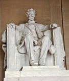 Staty av Abraham Lincoln på Lincoln Memorial Arkivbilder