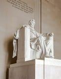 Staty av Abraham Lincoln på Lincoln Memorial Royaltyfria Bilder