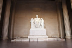 Staty av Abraham Lincoln Washington DC Arkivfoton