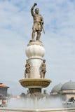 Staty av Alexander de stora i centrum av Skopje, royaltyfri fotografi