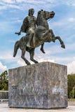 Staty av Alexander storen i Thessaloniki royaltyfria foton
