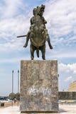 Staty av Alexander storen i Thessaloniki royaltyfria bilder
