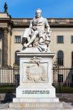 Staty av Alexander von Humboldt Fotografering för Bildbyråer