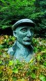 Staty av Ammon Wrigley i uppermillsaddleworth Arkivfoto