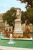Staty av Antonin, en romersk kejsare, Nimes Arkivbild