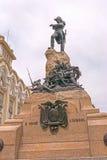 Staty av Antonio José de Sucre Arkivbild