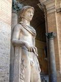Staty av Apollo, Vaticanenmuseum Arkivbild