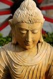 Staty av att le Buddha Arkivbild
