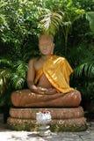 Staty av att sitta Buddha Arkivbilder