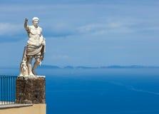Staty av Augustus, Anacapri, Capri Arkivfoton