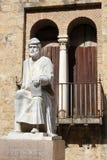 Staty av Averroes i Cordoba Royaltyfri Foto