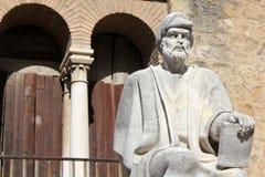 Staty av Averroes i Cordoba Arkivbild