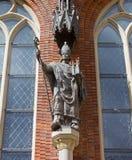 Staty av biskopen Albrecht von Buxthoeven Arkivfoto