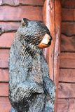 Staty av björnen Fotografering för Bildbyråer