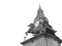 Staty av Boudicca nära den Westminster bron, London, UK Royaltyfri Foto