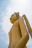 Staty av Buddha, av den stora Buddha över blå himmel Royaltyfri Foto