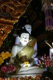 Staty av buddha, i buddistisk tempel Royaltyfri Fotografi