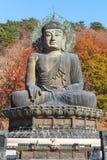Staty av buddha i den Seoraksan nationalparken, Korea Arkivbilder