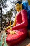 Staty av Buddha, Swayambhunath, Katmandu, Nepal Royaltyfri Bild