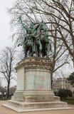 Staty av Charlemagne Notre Dame, Paris Royaltyfria Foton