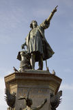 Staty av Christopher Columbus i Plazakolon domingo santo Dominikanska republiken Royaltyfri Bild