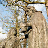 Staty av Constantijn och Christiaan Huygens Royaltyfria Foton