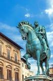 Staty av Cosimo de Medici i Florence, Italien Royaltyfria Foton