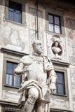 Staty av Cosimo Jag de Medici, storslagen hertig av Tuscany, Pisa, Italien arkivfoton
