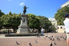 Staty av Cristobal Colà ³ n Royaltyfria Bilder