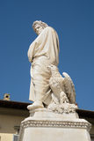Staty av Dante Alighieri i Florence Fotografering för Bildbyråer