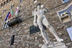 Staty av David  Arkivbild