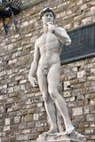 David av Michelangelo. Sculture i Firenze Arkivfoto