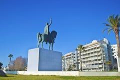 staty av den bysantinska kejsaren Constantine XI Palaiologos Grekland Arkivfoton